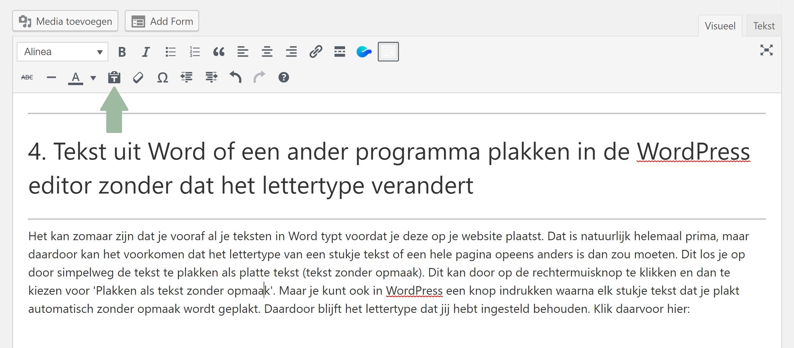 Plak tekst als tekst zonder opmaak - WordPress tip