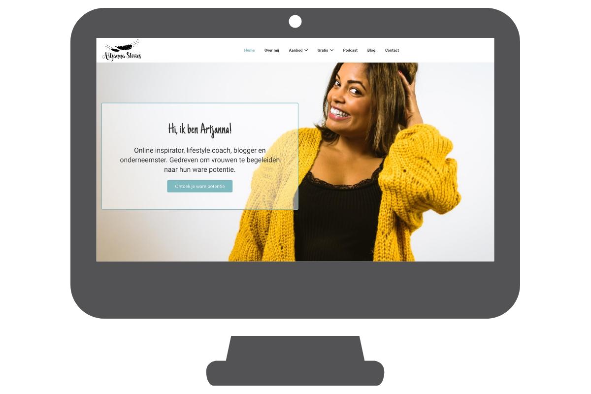 Artjanna - WordPress website