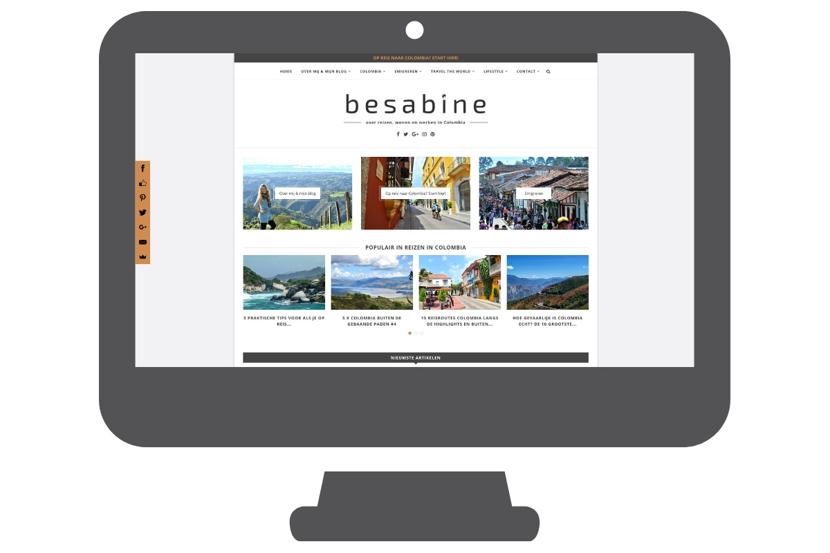 Besabine - WordPress website