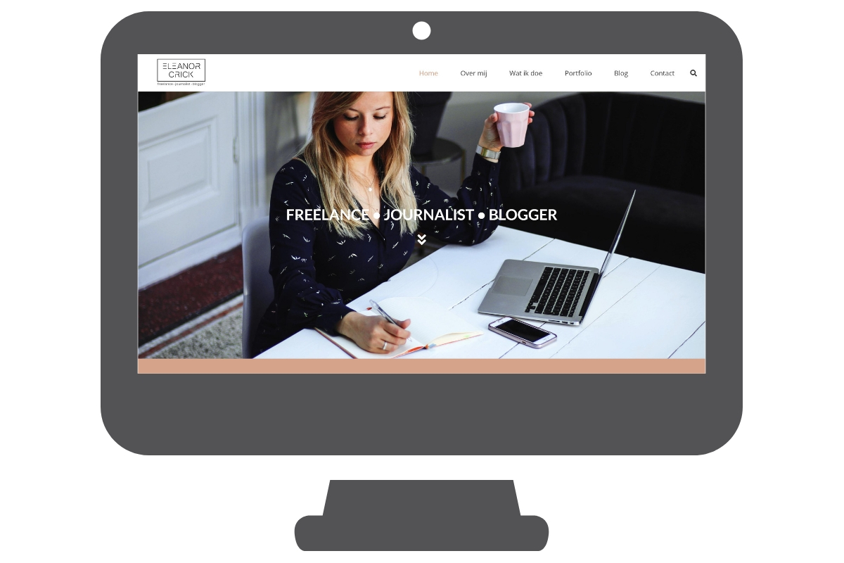 Eleanor Crick bedrijf - WordPress website