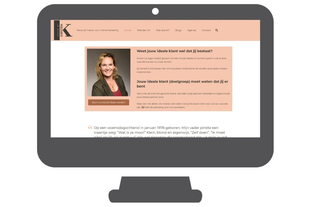 Kirsten - WordPress website