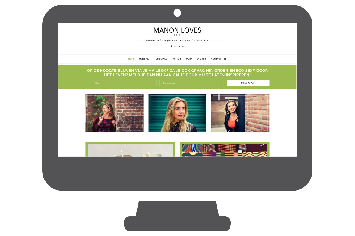 Manonloveslife - WordPress website