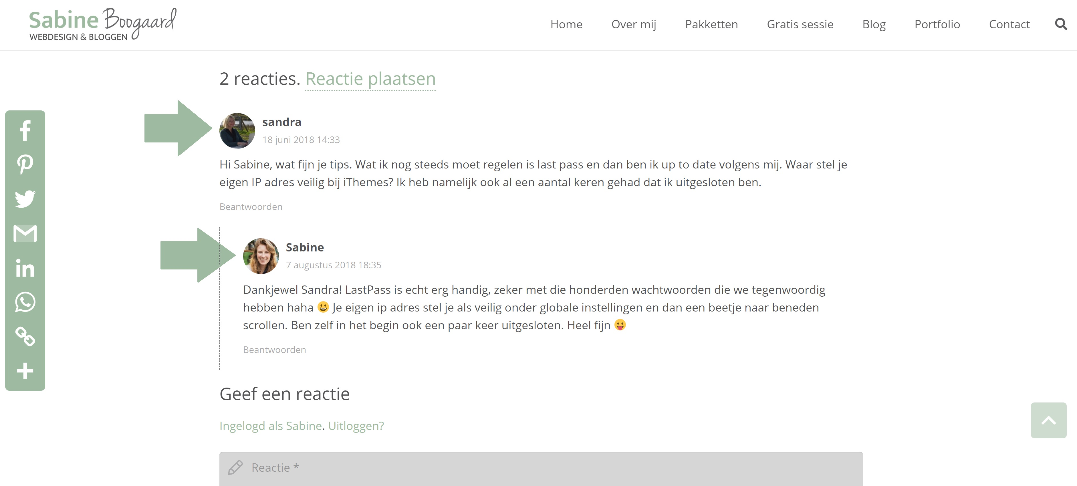 Gravatar Wordpress reacties