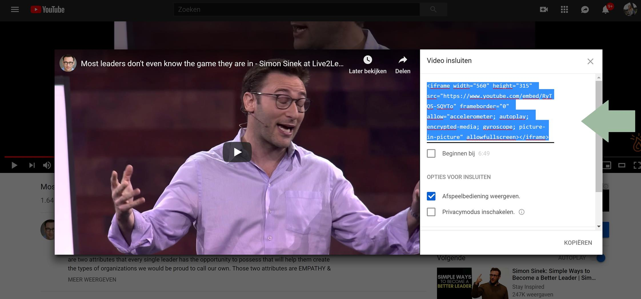 Youtube video embedden op WordPress website (Copy)