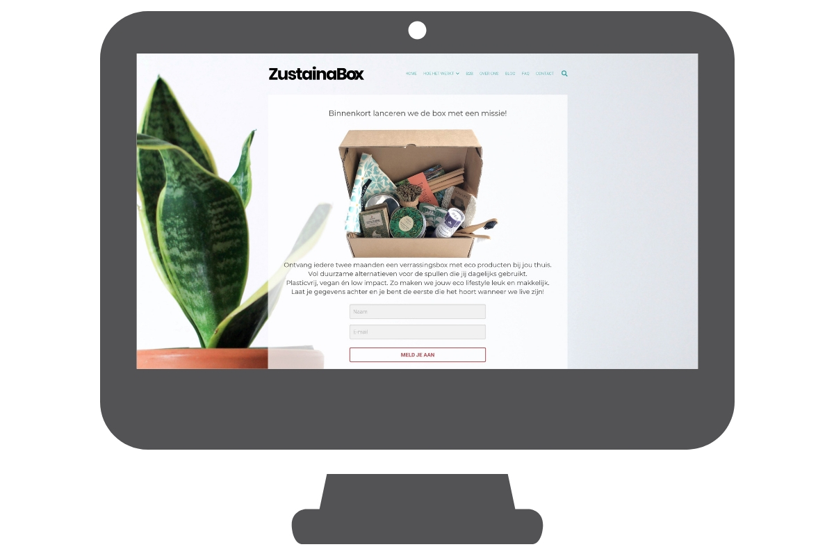 Zustainabox website maken