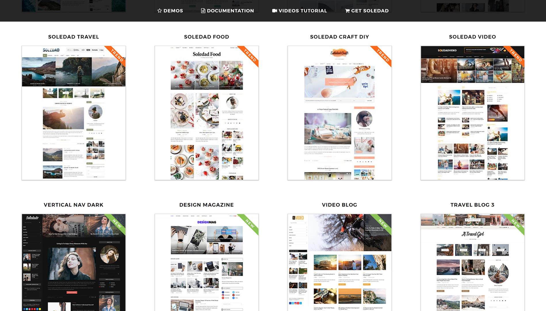 Soledad blog wordpress thema
