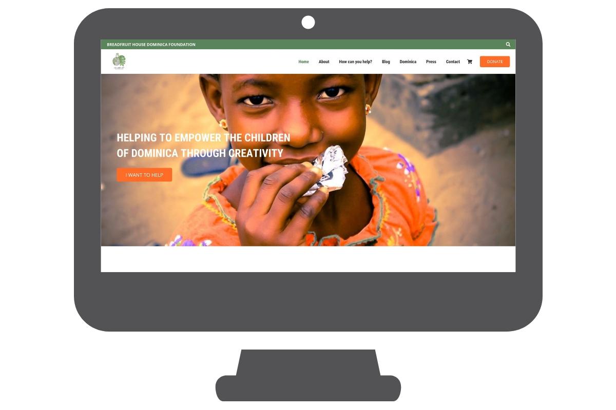 WordPress Website portfolio for Breadfruit House Dominica