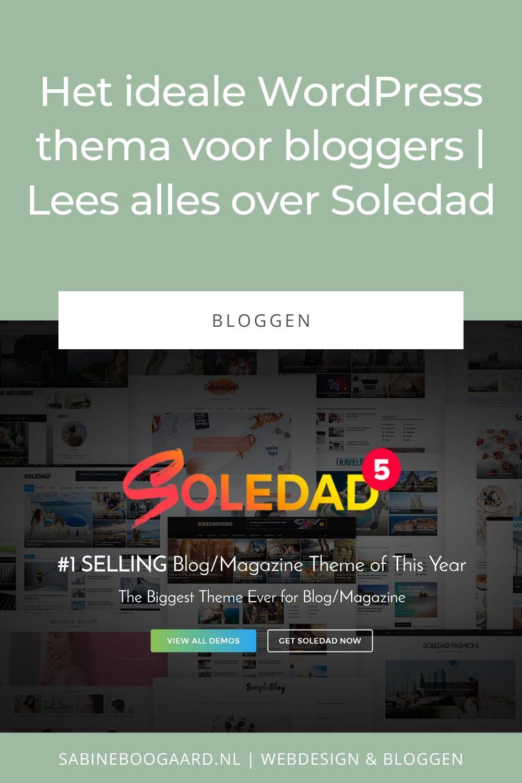 Het ideale WordPress thema voor bloggers - Soledad