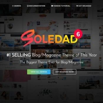 Soledad WordPress thema voor bloggers