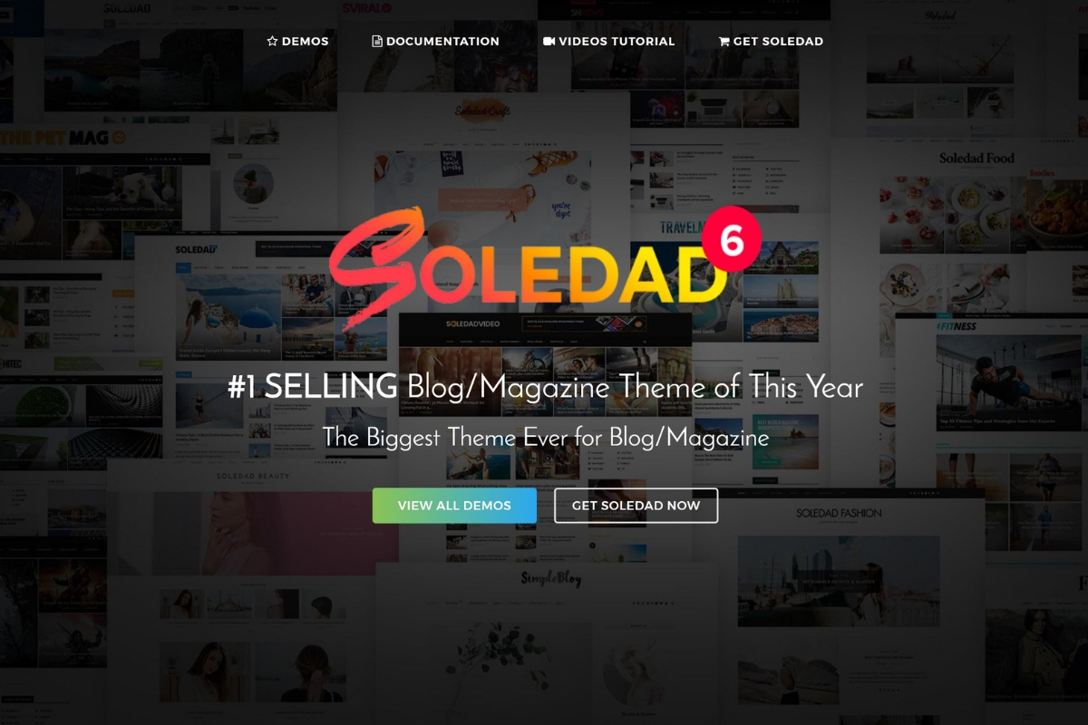 Soledad WordPress thema voor bloggers
