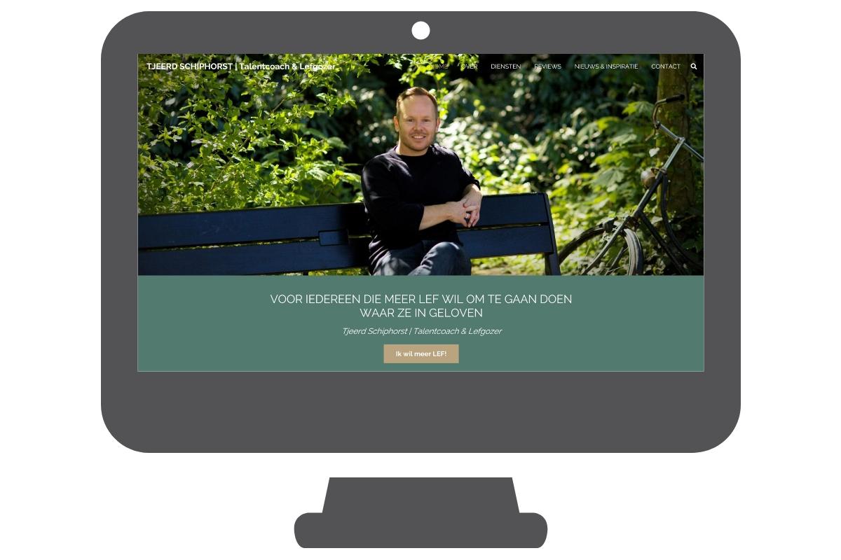 Tjeerd Schiphorst one page website