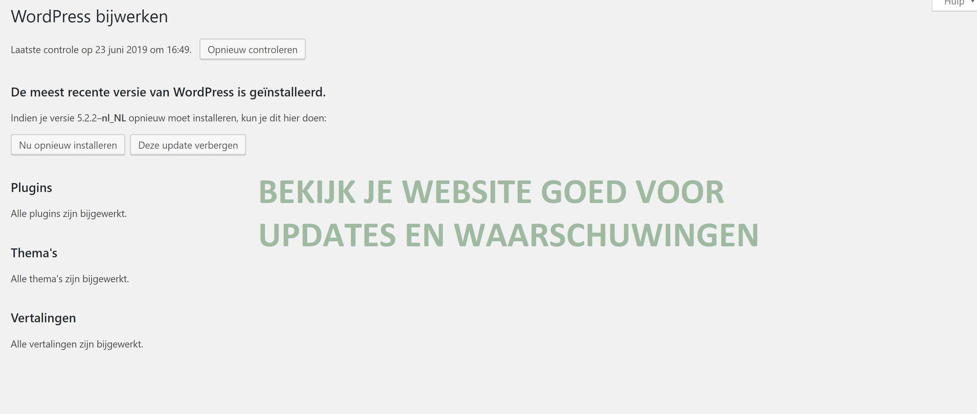 Wat doe je als je website breekt