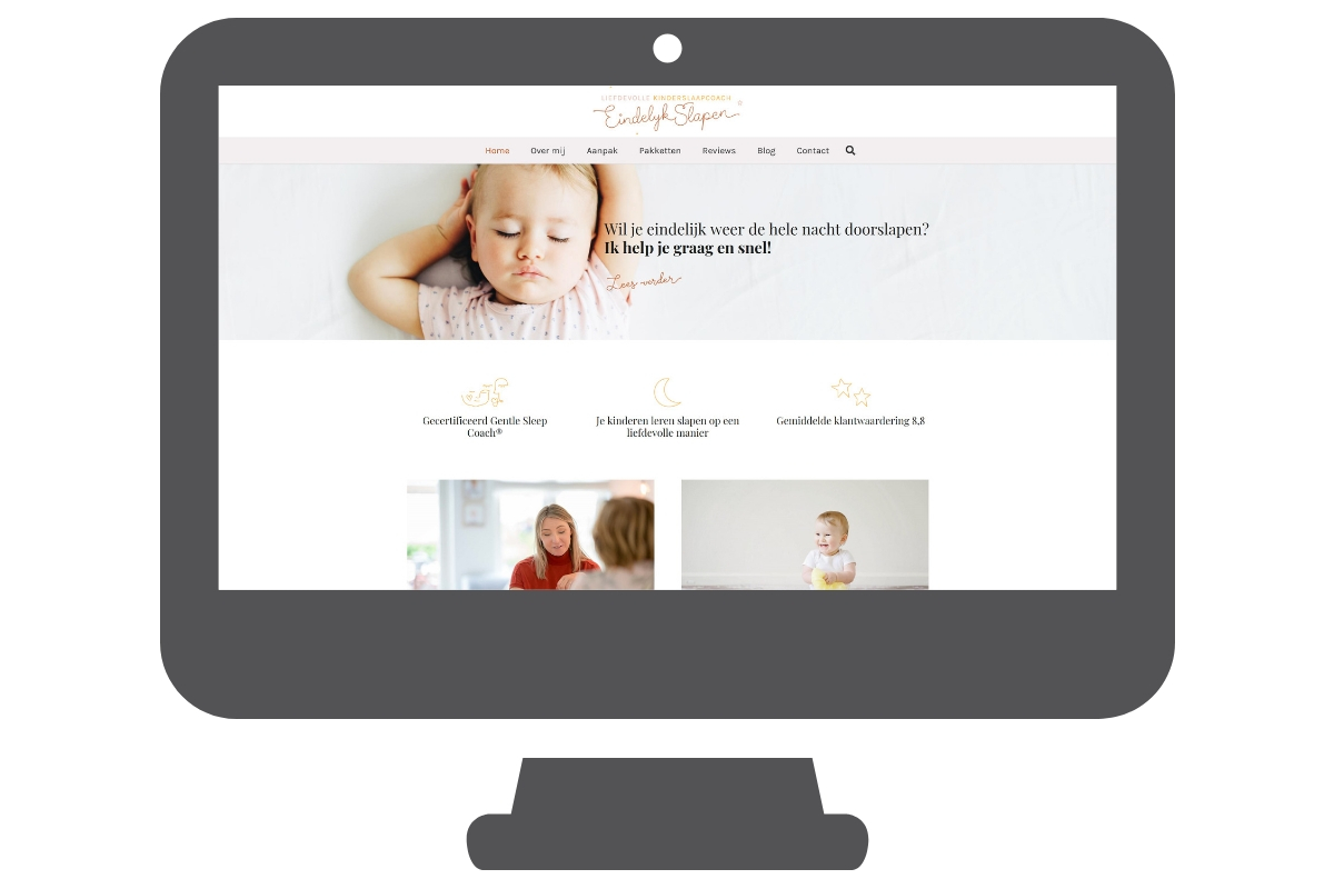 Kinderslaapcoach Utrecht website wordpress