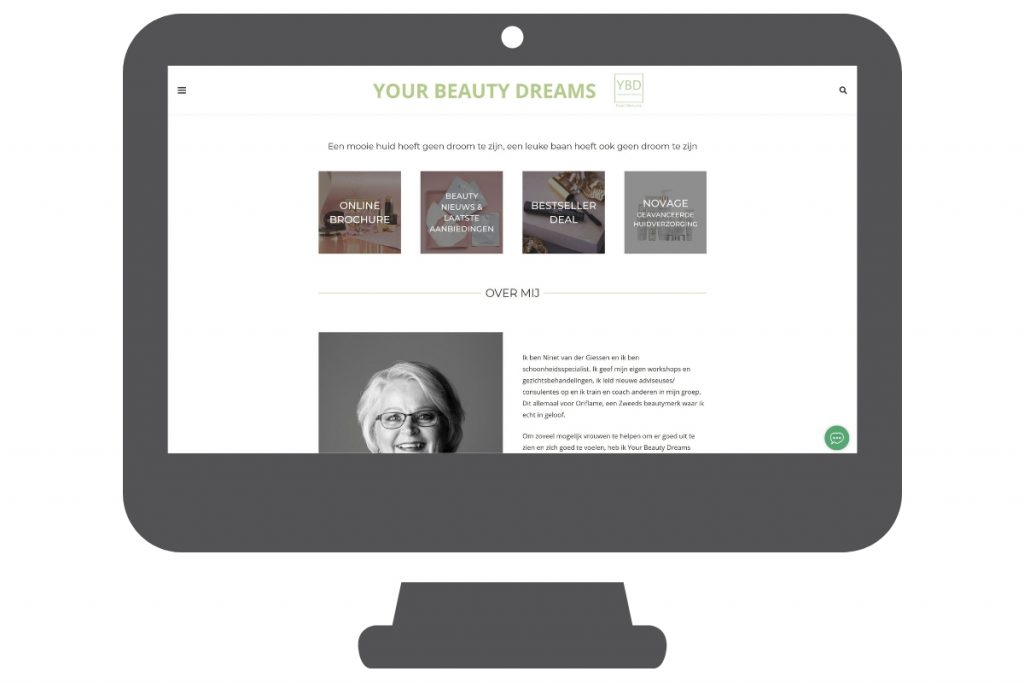 Website over beauty gezondheid en make-up