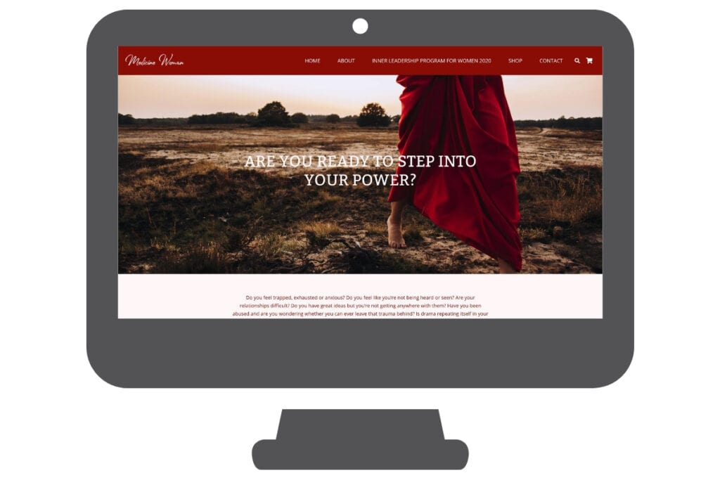 Medicine woman wordpress website