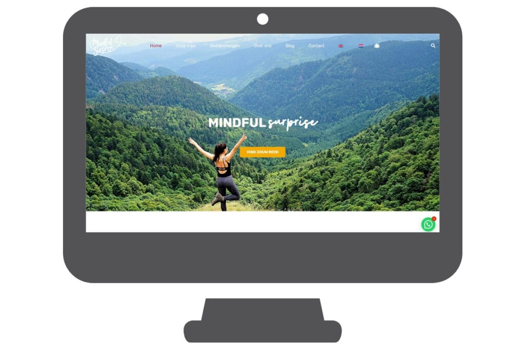 Mindful Surprise website reisorganisatie reizen