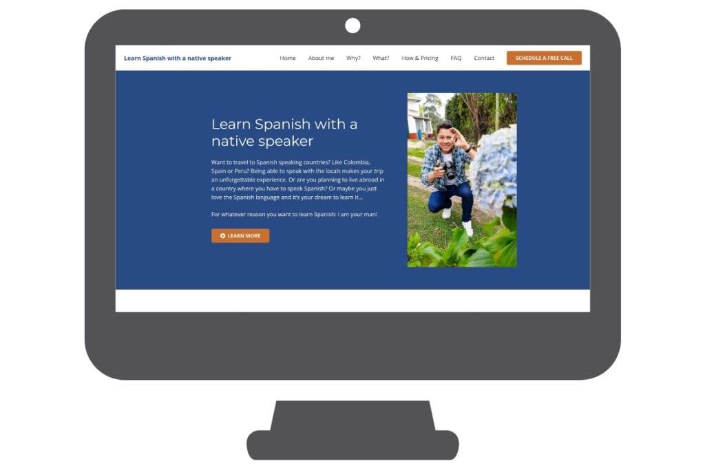 Website Spaanse taal leren