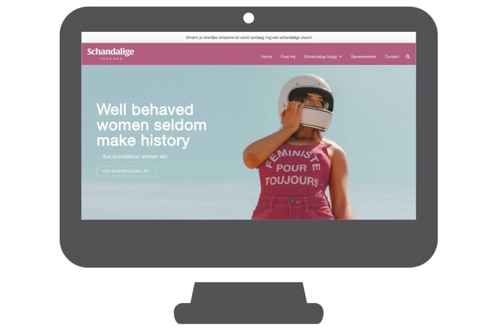 WordPress blog schandalige vrouwen
