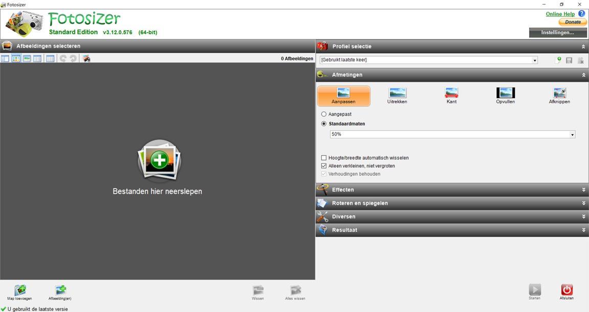 Fotosizer programma foto's verkleinen voor website