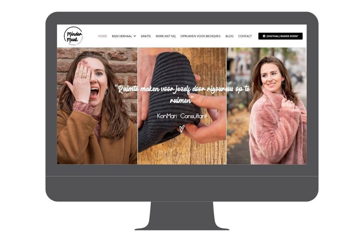 WordPress Website voorbeeld Marie Kondo opruimcoach