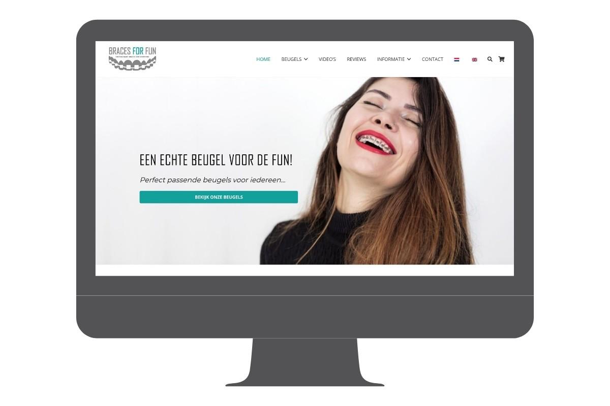 Wordpress website orthodontische beugels die worden gedragen voor de fun