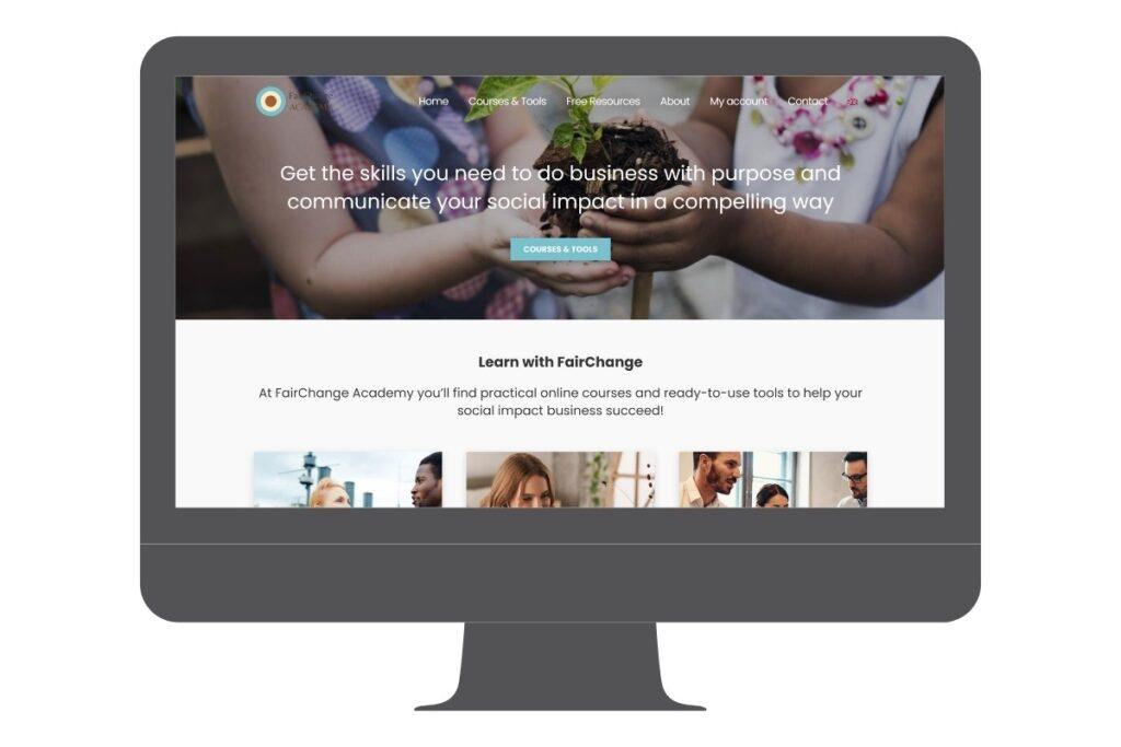 WordPress website: Social impact business courses & tools