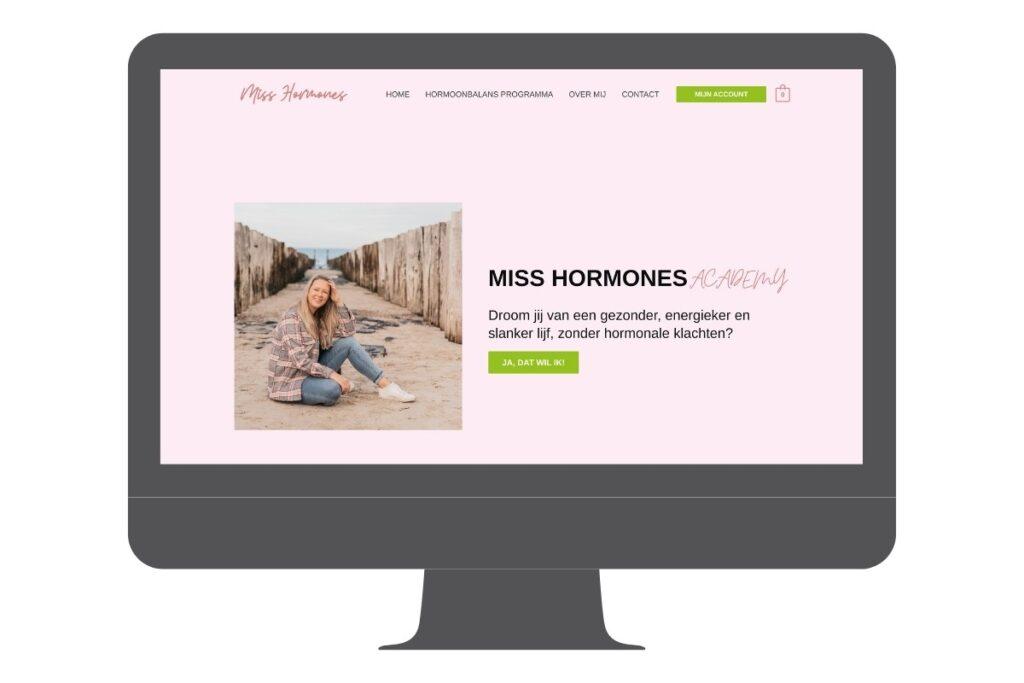 WordPress website: Online cursussen over voeding en hormonen