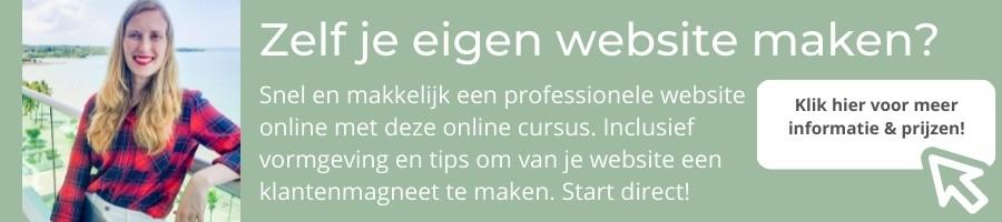 Zelf je eigen WordPress website maken